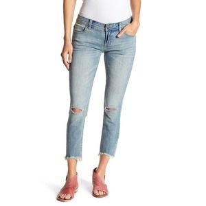 Free People Low Rise Destroyed Skinny Jeans